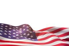 Ψηφιακά παραγμένος κυματισμός αμερικανικών σημαιών ελεύθερη απεικόνιση δικαιώματος