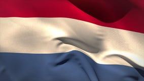 Ψηφιακά παραγμένος κυματισμός ολλανδικών σημαιών διανυσματική απεικόνιση