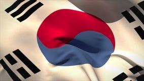 Ψηφιακά παραγμένος κυματισμός σημαιών δημοκρατιών της Κορέας ελεύθερη απεικόνιση δικαιώματος