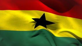 Ψηφιακά παραγμένος κυματισμός σημαιών της Γκάνας απεικόνιση αποθεμάτων