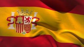 Ψηφιακά παραγμένος κυματισμός σημαιών της Ισπανίας ελεύθερη απεικόνιση δικαιώματος