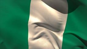 Ψηφιακά παραγμένος κυματισμός σημαιών της Νιγηρίας απεικόνιση αποθεμάτων
