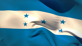 Ψηφιακά παραγμένος κυματισμός σημαιών της Ονδούρας ελεύθερη απεικόνιση δικαιώματος