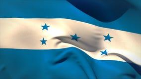 Ψηφιακά παραγμένος κυματισμός σημαιών της Ονδούρας διανυσματική απεικόνιση