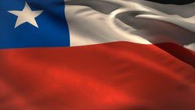 Ψηφιακά παραγμένος κυματισμός σημαιών της Χιλής ελεύθερη απεικόνιση δικαιώματος