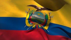 Ψηφιακά παραγμένος κυματισμός σημαιών του Ισημερινού διανυσματική απεικόνιση