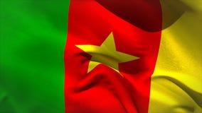 Ψηφιακά παραγμένος κυματισμός σημαιών του Καμερούν ελεύθερη απεικόνιση δικαιώματος