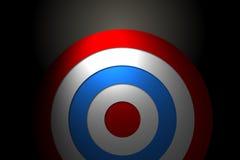 Ψηφιακά παραγμένος κόκκινος και μπλε στόχος διανυσματική απεικόνιση