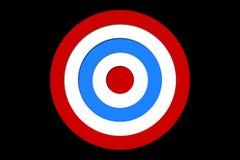 Ψηφιακά παραγμένος κόκκινος και μπλε στόχος ελεύθερη απεικόνιση δικαιώματος