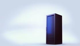 Ψηφιακά παραγμένος μαύρος πύργος κεντρικών υπολογιστών διανυσματική απεικόνιση