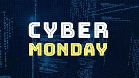 Ψηφιακά παραγμένος της Δευτέρας cyber διανυσματική απεικόνιση
