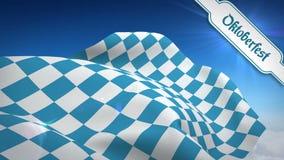 Ψηφιακά παραγμένος του πιό oktoberfest κυματισμού σημαιών διανυσματική απεικόνιση