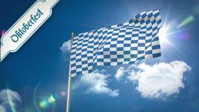 Ψηφιακά παραγμένος του πιό oktoberfest κυματισμού σημαιών απεικόνιση αποθεμάτων