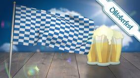 Ψηφιακά παραγμένος του πιό oktoberfest κυματισμού σημαιών ελεύθερη απεικόνιση δικαιώματος