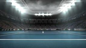 Ψηφιακά παραγμένο βίντεο του σταδίου αντισφαίρισης διανυσματική απεικόνιση