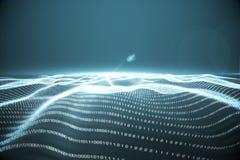 Ψηφιακά παραγμένο τοπίο δυαδικού κώδικα Στοκ Εικόνα