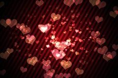 Ψηφιακά παραγμένο girly σχέδιο καρδιών Στοκ Φωτογραφίες