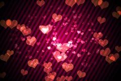 Ψηφιακά παραγμένο girly σχέδιο καρδιών Στοκ εικόνες με δικαίωμα ελεύθερης χρήσης