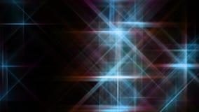Ψηφιακά πορφυρά και μπλε αστέρια που πετούν το υπόβαθρο φιλμ μικρού μήκους