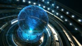 Ψηφιακά συνδεδεμένη γήινη έννοια 4k γραφική παράσταση κινήσεων διανυσματική απεικόνιση