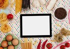 Ψηφιακά ταμπλέτα και συστατικά στοκ εικόνα