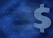 ψηφιακά χρήματα ανασκόπηση&sig Στοκ Φωτογραφία