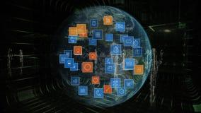 Ψηφιακά app εικονίδια και σφαίρα απεικόνιση αποθεμάτων
