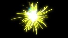 Ψηφιακή έκρηξη πυροτεχνημάτων μορίων σπινθήρων, πλήρες hd απόθεμα βίντεο