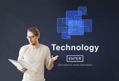 Ψηφιακή έννοια αρχικών σελίδων εξέλιξης καινοτομίας τεχνολογίας Στοκ φωτογραφία με δικαίωμα ελεύθερης χρήσης