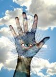 Ψηφιακή έννοια δακτυλικών αποτυπωμάτων Στοκ φωτογραφίες με δικαίωμα ελεύθερης χρήσης