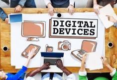 Ψηφιακή έννοια επικοινωνίας σύνδεσης ηλεκτρονικής συσκευών στοκ εικόνες