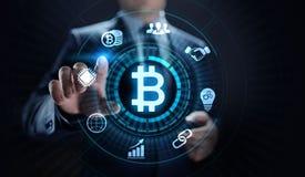Ψηφιακή έννοια επιχειρησιακής τεχνολογίας χρηματοδότησης χρημάτων cryptocurrency Bitcoin στοκ εικόνες