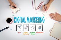 Ψηφιακή έννοια μάρκετινγκ Η συνεδρίαση στον άσπρο πίνακα γραφείων Στοκ φωτογραφίες με δικαίωμα ελεύθερης χρήσης