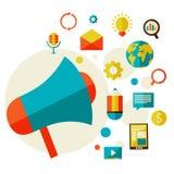 Ψηφιακή έννοια μάρκετινγκ διανυσματική απεικόνιση