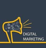 Ψηφιακή έννοια μάρκετινγκ Στοκ φωτογραφία με δικαίωμα ελεύθερης χρήσης