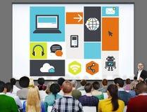 Ψηφιακή έννοια μέσων απομνημόνευσης υπολογισμού σύννεφων υπολογιστών Στοκ Φωτογραφία