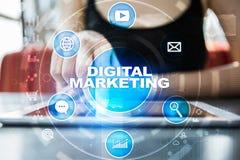 Ψηφιακή έννοια τεχνολογίας μάρκετινγκ Διαδίκτυο On-line SEO SMM _ Στοκ εικόνες με δικαίωμα ελεύθερης χρήσης