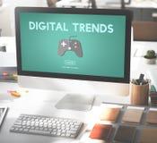 Ψηφιακή έννοια τεχνολογίας χόμπι διασκέδασης ψυχαγωγίας τυχερού παιχνιδιού Στοκ Εικόνες