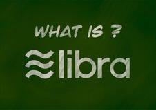 Ψηφιακή έννοια υποβάθρου χρημάτων Libra ελεύθερη απεικόνιση δικαιώματος