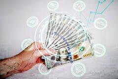 Ψηφιακή έννοια χρημάτων Στοκ Φωτογραφίες