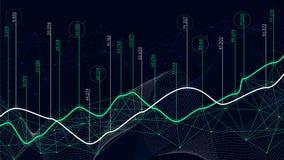 Ψηφιακή έννοια analytics, απεικόνιση στοιχείων, οικονομικό πρόγραμμα, διάνυσμα Στοκ Εικόνες