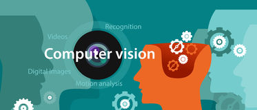 Ψηφιακή αναγνώριση εικόνας απεικόνισης τεχνολογίας όρασης υπολογιστών ελεύθερη απεικόνιση δικαιώματος