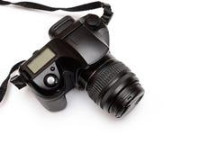 Ψηφιακή ανακλαστική κάμερα ενιαίος-φακών, που απομονώνεται στο άσπρο υπόβαθρο Στοκ Φωτογραφίες