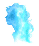 Ψηφιακή απεικόνιση γυναικών Watercolor Στοκ Φωτογραφίες