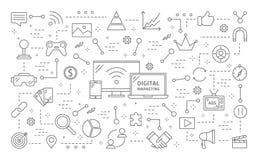 Ψηφιακή απεικόνιση μάρκετινγκ απεικόνιση αποθεμάτων
