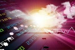 Ψηφιακή απεικόνιση της ανάλυσης γραφικών παραστάσεων χρηματιστηρίου Στοκ φωτογραφία με δικαίωμα ελεύθερης χρήσης