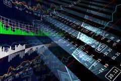 Ψηφιακή απεικόνιση της ανάλυσης γραφικών παραστάσεων χρηματιστηρίου Στοκ Εικόνες