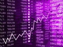 Ψηφιακή απεικόνιση της γραφικής παράστασης χρηματιστηρίου απεικόνιση αποθεμάτων