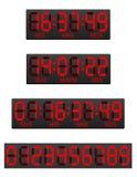 Ψηφιακή απεικόνιση χρονομέτρων αντίστροφης μέτρησης πινάκων βαθμολογίας ελεύθερη απεικόνιση δικαιώματος