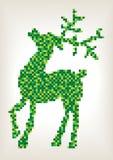 Ψηφιακή απεικόνιση χρώματος του ταράνδου Χριστουγέννων Στοκ φωτογραφία με δικαίωμα ελεύθερης χρήσης